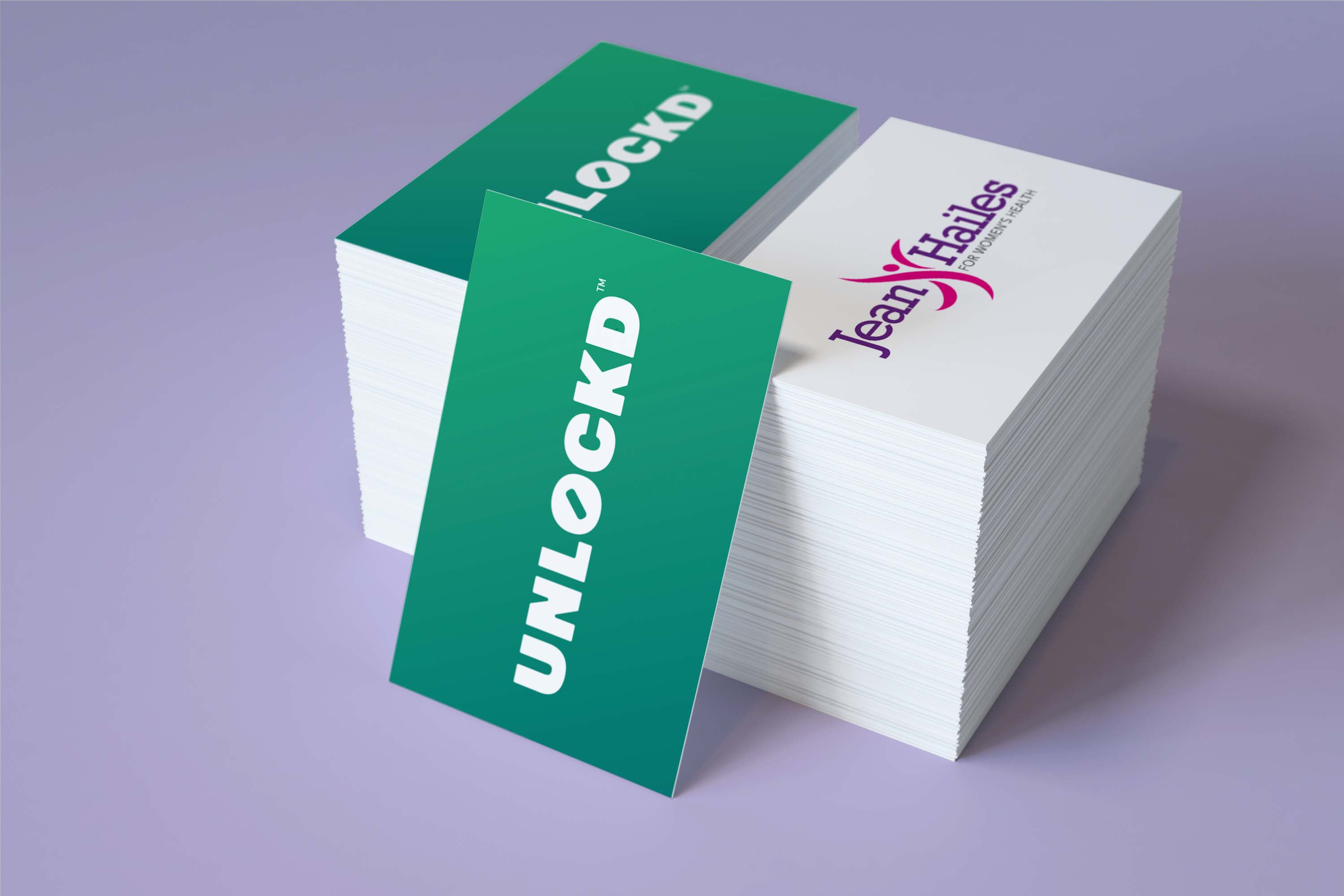 100% Recycled Uncoated Business cards